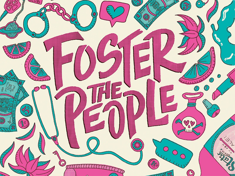 Foster The People Poster foster the people illustration type poster band poster