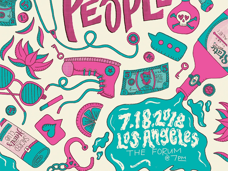 Foster The People Poster foster the people illustration type band poster