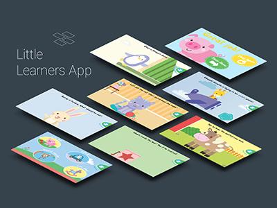 Little Learners App learning apps apps kids children user experience ui ux