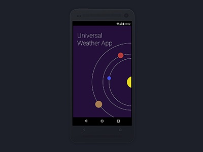 Opening Screen for Universal Weather