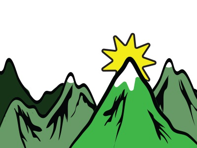 Christmas Card Art digital design art festive mountains christmas mountains graphic design