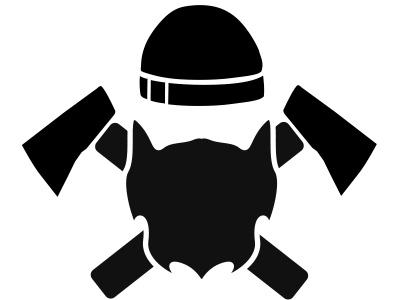 Lumberjack Car Vinyl Design black and white axes lumberjack logo vector design art graphic design