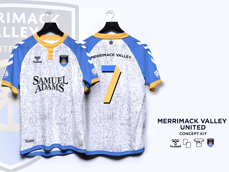 Merrimack Valley United Concept Kit graphic design logo beer fashion concept sam adams hummel product design kit jersey soccer football