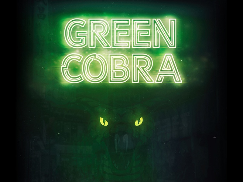 Green Cobra movietitle movie snake cobra green icon typography vector branding photography photomanipulation illustration logo design