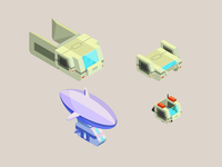 Design element for a Robot game 2/3