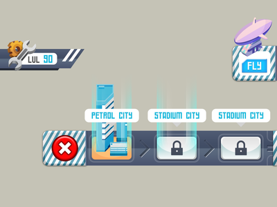 Design element for a Robot game 3/3 illustration ui