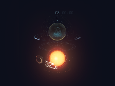 Ghost Interface ui design holographic style