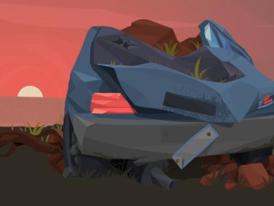 Car Destroy 1 illustration game