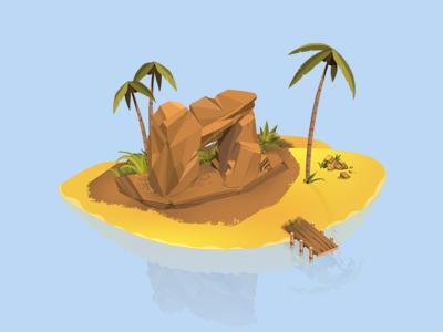 Island 5 illustrations game
