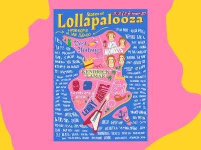 Lollapalooza posters music concert festival lollapalooza