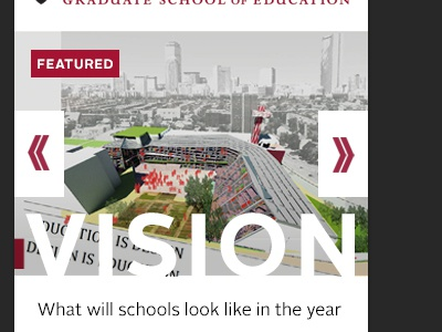 HGSE Concept mobile feature type over image alright sans bold