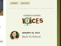 GS Voices Widget Concept