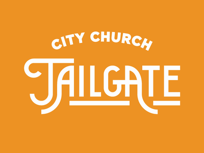 City Church Tailgates church tn knoxville tennessee university of tennessee ut football typography type tailgates