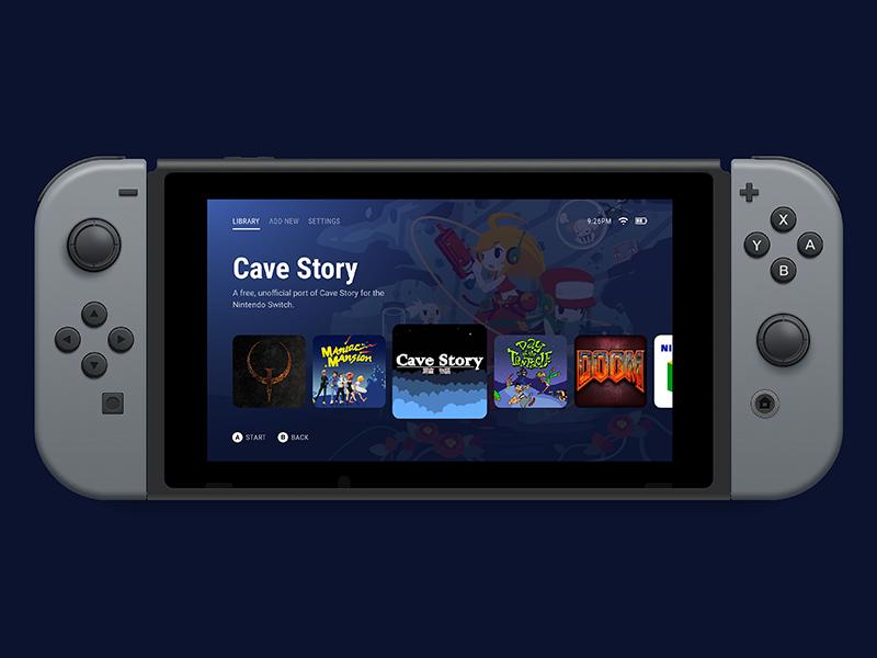 Nintendo Switch homebrew menu by Ben Mckeown on Dribbble