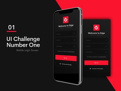 Daily UI 001 icon design ux app ui