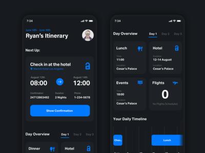 Conceptual Itinerary App