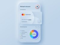 Conceptual Dashboard Screen mobile dashboard bank data visual concept flat skeumorphism skeuomorph