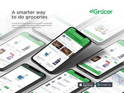 Grocery Online - elGrocer oder food restaurant iphone green app design mobile application order online grocery online grocery app
