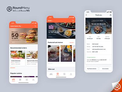 RoundMenu - Order Online, Dine Out and Booking orders booking order management set menu dine