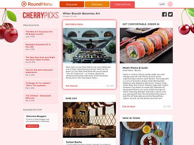 CherryPicks - RoundMenu new restaurants dining tips food blog
