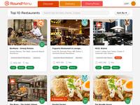 RoundMenu - Top Ten Restaurant