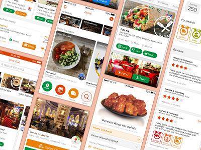 RoundMenu - UI ios app restaurants restaurant dubai user interface oder food
