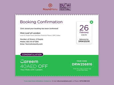 Booking Confirmation Screen date confirm booking confirmation thank you confirmation