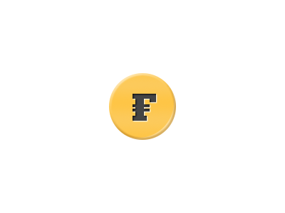 The Famecoin - Gold Limited Edition icon coin gold vector money photoshop logo illustration shiny game dollars yellow