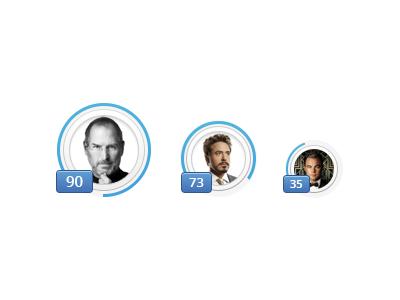 Avatars with Rank avatar rank level profile grade badge ux photoshop psd freebie download activity