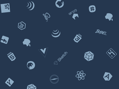 Background with Technology Icons 👾 icons sketch background