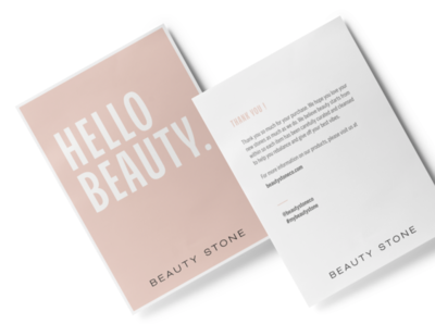 Beauty Stone - Thank You Card & Brand Identity