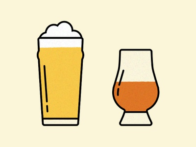 Drink icons illustration icons whisky beer dram pint drink