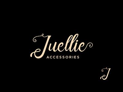 Juellie Branding logotype wordmark wedding accessories jewelry lettering favicon identity monogram logo branding