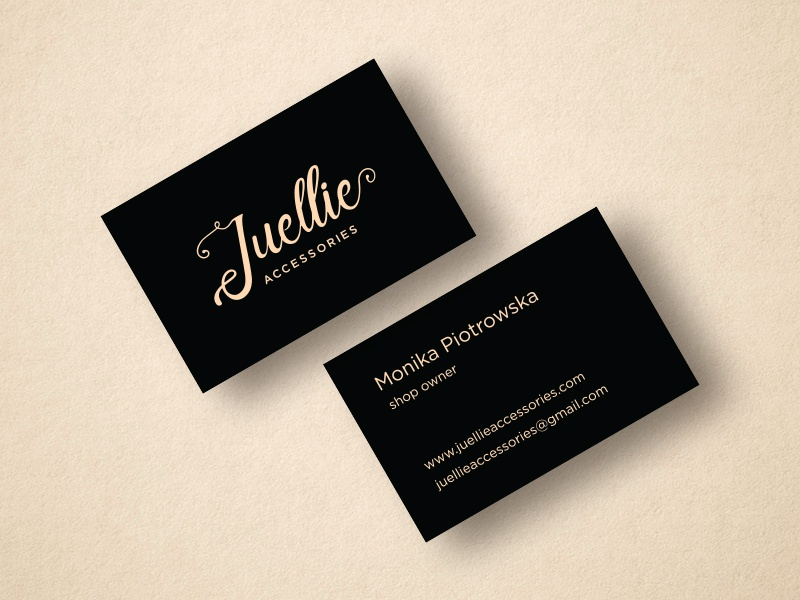 Juellie accessories business cards by pauline jurkeviius dribbble juelliebusinesscards colourmoves