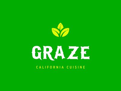 Graze logo plant-based vegan food eatery restaurant california cuisine identity branding logo design logo
