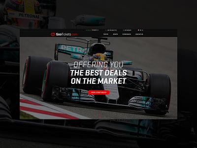 Gootickets.com Redesign ux ui superbike tickets redesign website minimal dark clean motorsports formula1 sports