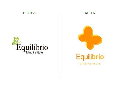 Equilibrio logo design graphic design bright butterfly rebrand identity branding logo
