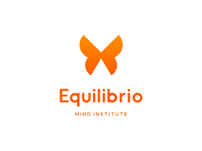 Equilibrio Route 3 logo design concept graphic design bright butterfly rebrand identity branding logo