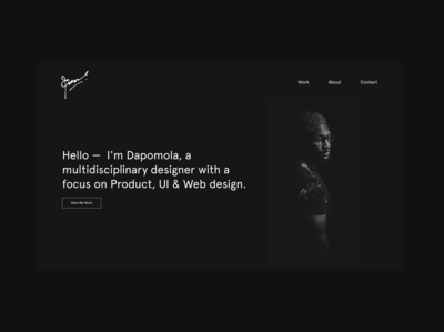 Portfolio Website UI