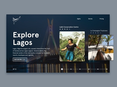 Landing Page Design for Explore Lagos