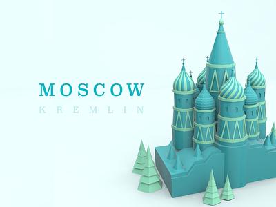 Moscow - KREMLIN illustration 3d art vectary 3d vectary