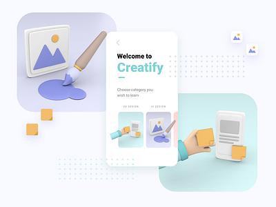 Creatify 3d art illustrator uiux ui vectary 3d vectary