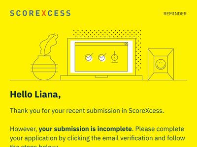 Scorexcess Reminder Email