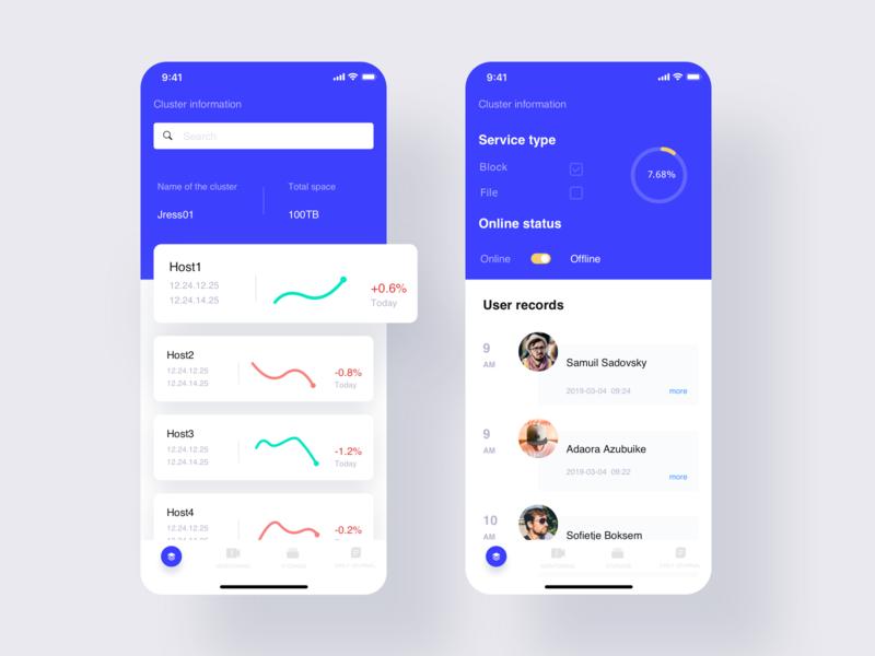 Storage Data Mobile Ui 02 app icon data ui ux design