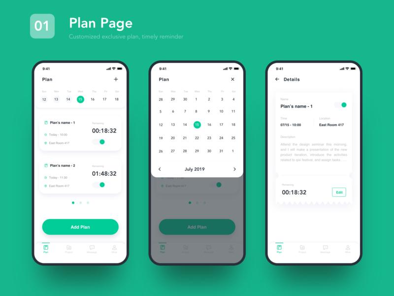 Add Plan Page icon data app ux ui design