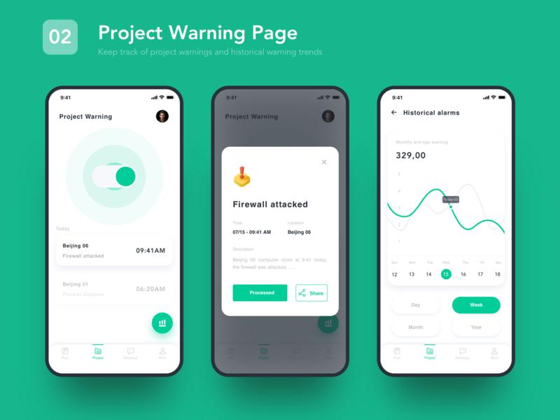 02 Project Warning Page sketch icon app branding web illustration ux ui design