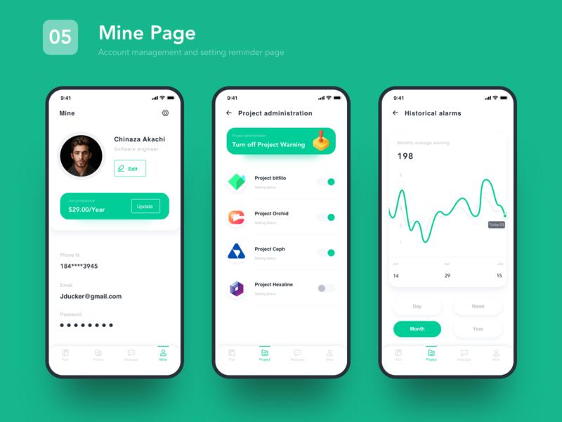 05 Mine page tool sketch data app ui ux design