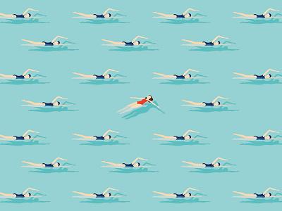 Swimmers swim float illustration maverick swimmers