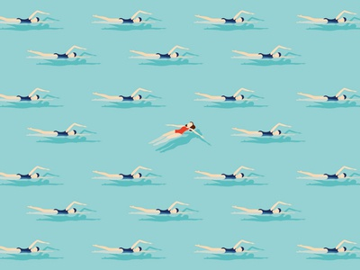Swimmers swim float illustration maverick swimmers