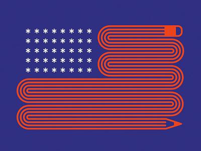 American Flag illustration design flag usa america